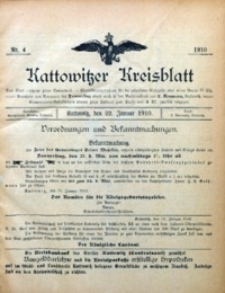 Kattowitzer Kreisblatt, 1910, nr 4