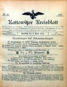 Kattowitzer Kreisblatt, 1910, nr 15