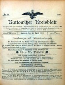 Kattowitzer Kreisblatt, 1910, nr 18