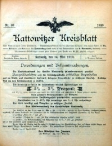 Kattowitzer Kreisblatt, 1910, nr 20