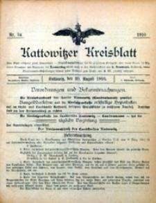 Kattowitzer Kreisblatt, 1910, nr 34