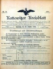 Kattowitzer Kreisblatt, 1910, nr 44