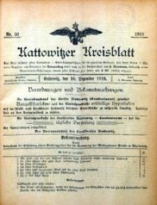 Kattowitzer Kreisblatt, 1910, nr 50