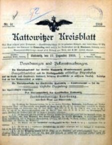 Kattowitzer Kreisblatt, 1910, nr 51