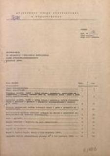 Uzupełnienie do Informacji o realizacji ważniejszych zadań społeczno-gospodarczych. Wrzesień 1980 r.