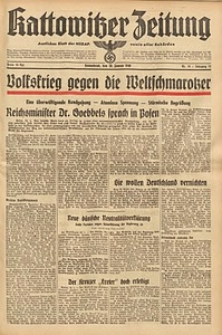 Kattowitzer Zeitung, 1940, Jg. 72, Nr. 19