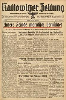 Kattowitzer Zeitung, 1940, Jg. 72, Nr. 116