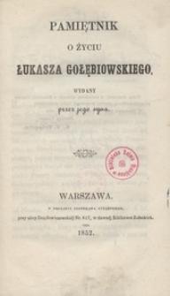 Pamiętnik o życiu Łukasza Gołębiowskiego