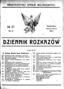 Dziennik Rozkazów, 1920, R. 3, nr 21