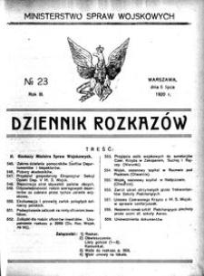 Dziennik Rozkazów, 1920, R. 3, nr 23