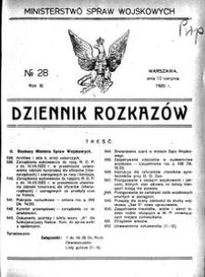 Dziennik Rozkazów, 1920, R. 3, nr 28