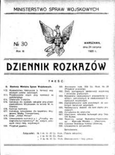 Dziennik Rozkazów, 1920, R. 3, nr 30