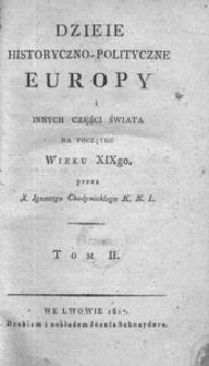 Dzieje historyczno-polityczne Europy i innych części świata na początku wieku XIXgo. T. 2