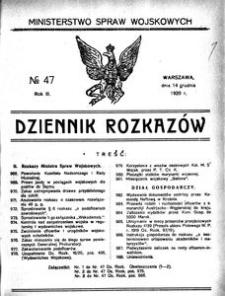 Dziennik Rozkazów, 1920, R. 3, nr 47