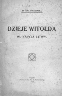 Dzieje Witołda W. Księcia Litwy