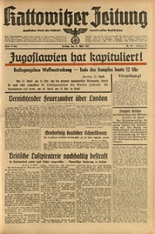 Kattowitzer Zeitung, 1941, Jg. 73, Nr. 105