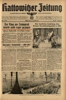 Kattowitzer Zeitung, 1941, Jg. 73, Nr. 254