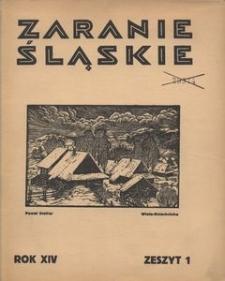 Zaranie Śląskie, 1938, R. 14, z. 1