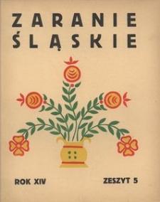 Zaranie Śląskie, 1938, R. 14, z. 5