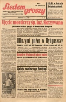 Siedem Groszy, 1937, R. 6, nr 32