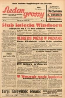 Siedem Groszy, 1937, R. 6, nr 136