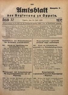 Amtsblatt der Regierung zu Oppeln für 1932, Bd. 117, St. 30. - Ausgabe B