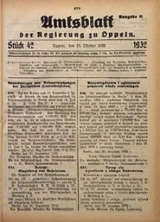 Amtsblatt der Regierung zu Oppeln für 1932, Bd. 117, St. 42. - Ausgabe B