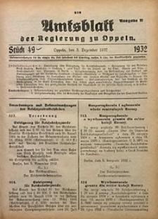 Amtsblatt der Regierung zu Oppeln für 1932, Bd. 117, St. 49. - Ausgabe B