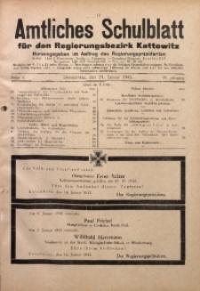 Amtliches Schulblatt für den Regierungsbezirk Kattowitz, 1943, Jg. 4, Folge 3