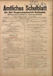 Amtliches Schulblatt für den Regierungsbezirk Kattowitz, 1943, Jg. 4, Folge 8