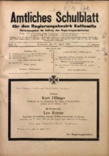 Amtliches Schulblatt für den Regierungsbezirk Kattowitz, 1943, Jg. 4, Folge 12
