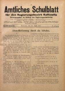 Amtliches Schulblatt für den Regierungsbezirk Kattowitz, 1943, Jg. 4, Folge 13