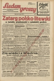 Siedem Groszy, 1938, R. 7, nr 77