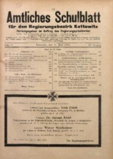 Amtliches Schulblatt für den Regierungsbezirk Kattowitz, 1943, Jg. 4, Folge 17