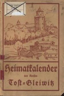 Heimatkalender für den Kreis Tost-Gleiwitz für das Jahr 1930, 3. Jahrgang