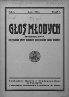 Głos Młodych, 1935, R. 1, z. 1