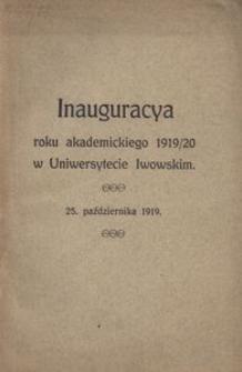 Inauguracya roku akademickiego 1919/1920 w Uniwersytecie Lwowskim, 25 października 1919