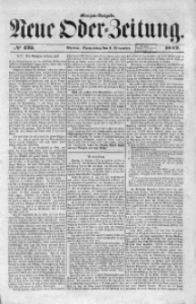 Neue Oder-Zeitung, 1849, No 435. - Morgen-Ausgabe
