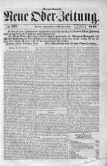 Neue Oder-Zeitung, 1849, No 523. - Morgen-Ausgabe