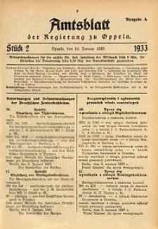 Amtsblatt der Regierung zu Oppeln für 1933, Bd. 118, St. 2