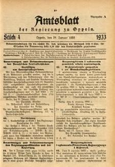Amtsblatt der Regierung zu Oppeln für 1933, Bd. 118, St. 4
