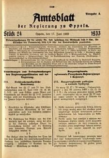 Amtsblatt der Regierung zu Oppeln für 1933, Bd. 118, St. 24