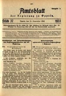 Amtsblatt der Regierung zu Oppeln für 1933, Bd. 118, St. 37