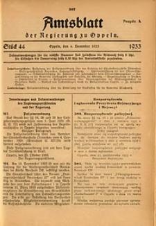 Amtsblatt der Regierung zu Oppeln für 1933, Bd. 118, St. 44