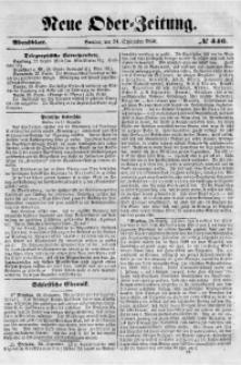 Neue Oder-Zeitung, 1850, No 446. - Abendblatt