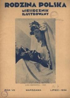 Rodzina Polska : miesięcznik ilustrowany, 1934, R.8, Nr 7 - lipiec