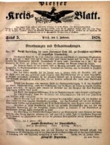 Plesser Kreis-Blatt, 1878, St. 5