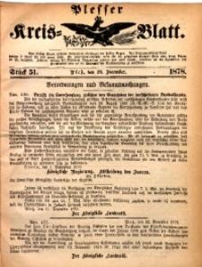Plesser Kreis-Blatt, 1878, St. 51
