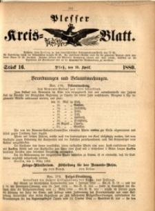 Plesser Kreis-Blatt, 1880, St. 16