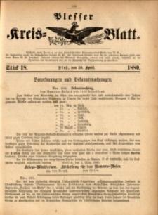 Plesser Kreis-Blatt, 1880, St. 18